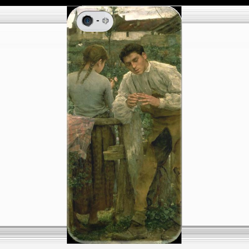 Чехол для iPhone 5 глянцевый, с полной запечаткой Printio Деревенская любовь чехол для iphone 5 глянцевый с полной запечаткой printio любовь