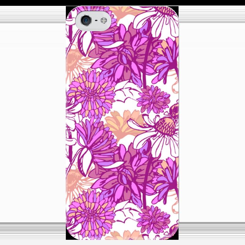 Чехол для iPhone 5 глянцевый, с полной запечаткой Printio Purple blossom чехол для iphone 4 глянцевый с полной запечаткой printio purple