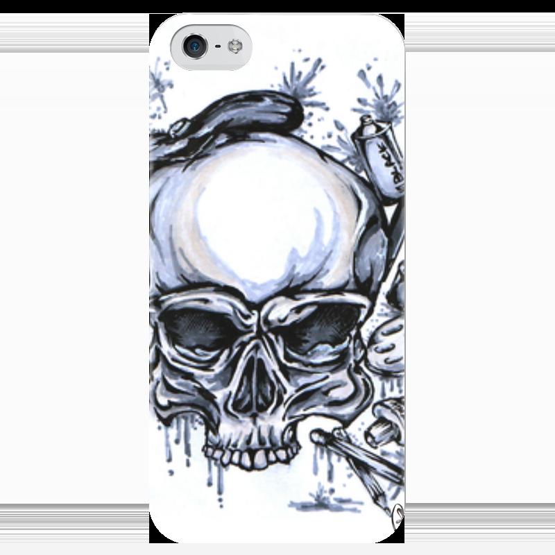 Чехол для iPhone 5 глянцевый, с полной запечаткой Printio Череп художник чехол для iphone 4 глянцевый с полной запечаткой printio череп