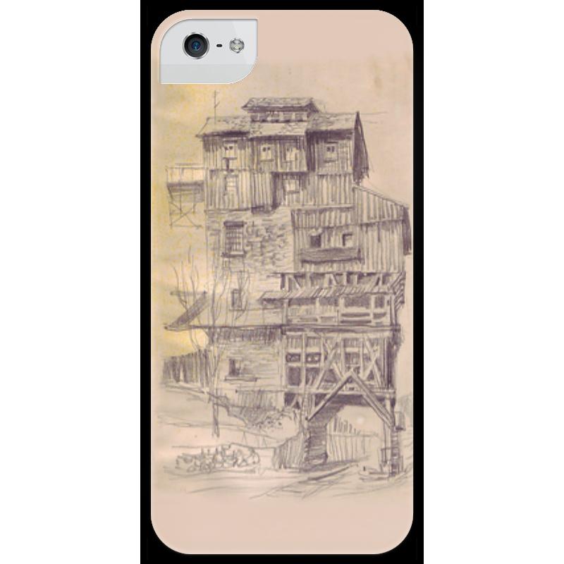 Чехол для iPhone 5 глянцевый, с полной запечаткой Printio Creepy house другие товары для рождества creepy square