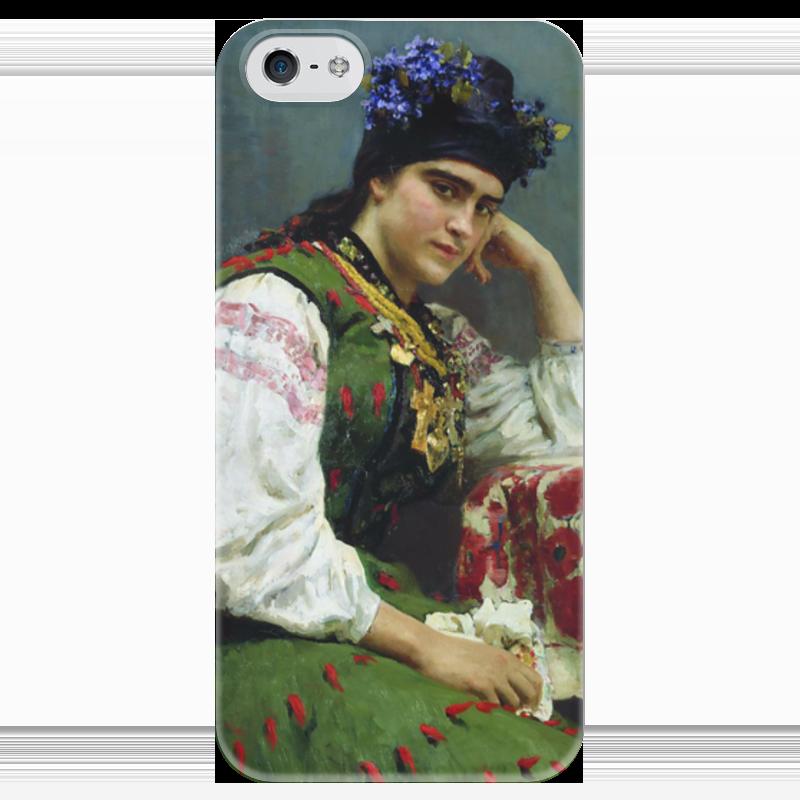 Чехол для iPhone 5 глянцевый, с полной запечаткой Printio Портрет софьи драгомировой чехол для iphone 4 глянцевый с полной запечаткой printio эфиопка
