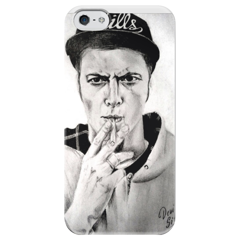 Чехол для iPhone 5 глянцевый, с полной запечаткой Printio Ник черников какой iphone лучше для россии