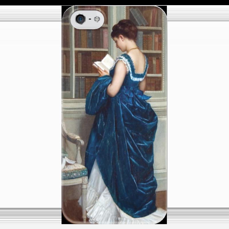 Чехол для iPhone 5 глянцевый, с полной запечаткой Printio Молодая девушка за чтением чехол для iphone 6 глянцевый printio молодая женщина в соломенной шляпе