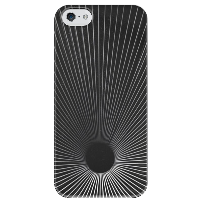 Чехол для iPhone 5 глянцевый, с полной запечаткой Printio Черная дыра какой iphone лучше для россии