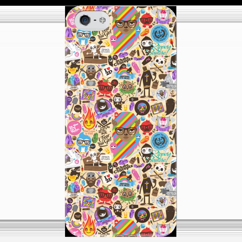 Чехол для iPhone 5 глянцевый, с полной запечаткой Printio Боюсь, что вы девушка чехол для iphone 4 глянцевый с полной запечаткой printio эфиопка