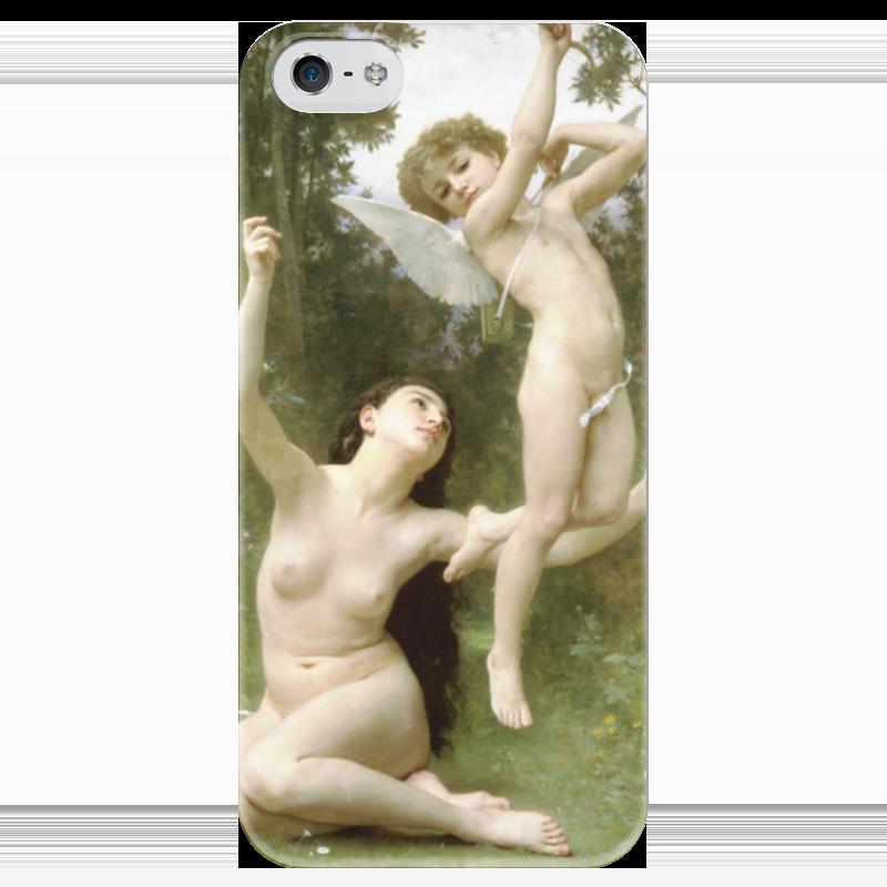 Чехол для iPhone 5 глянцевый, с полной запечаткой Printio Полёт любви (вильям бугро) чехол для iphone 5 printio чехол с мыслями о любви