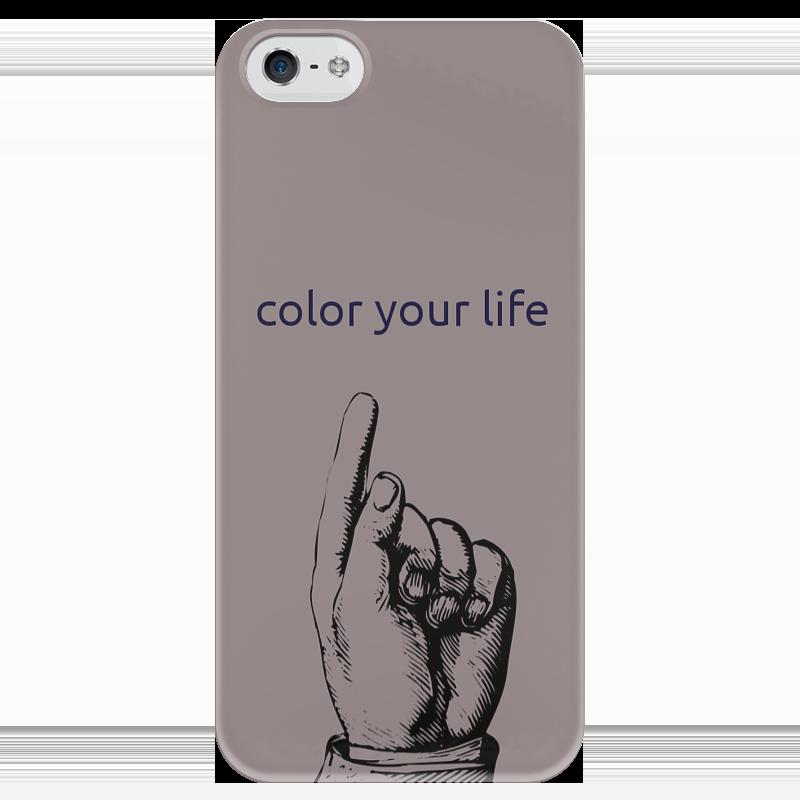 Чехол для iPhone 5 глянцевый, с полной запечаткой Printio Яркий чехол для iphone 5 глянцевый с полной запечаткой printio ember spirit dota 2