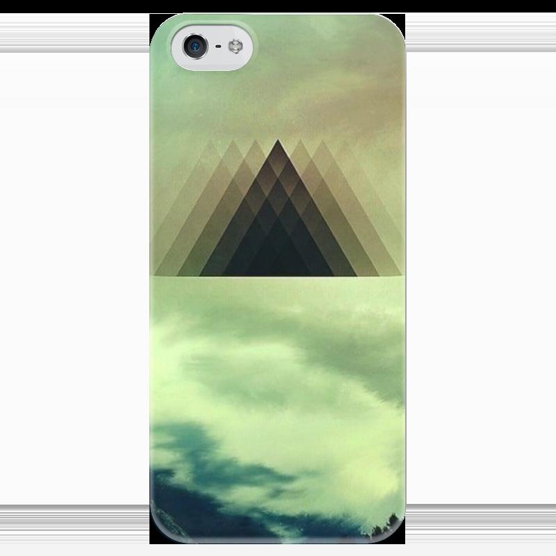 Чехол для iPhone 5 глянцевый, с полной запечаткой Printio Triangle чехол для iphone 5 глянцевый с полной запечаткой printio ember spirit dota 2