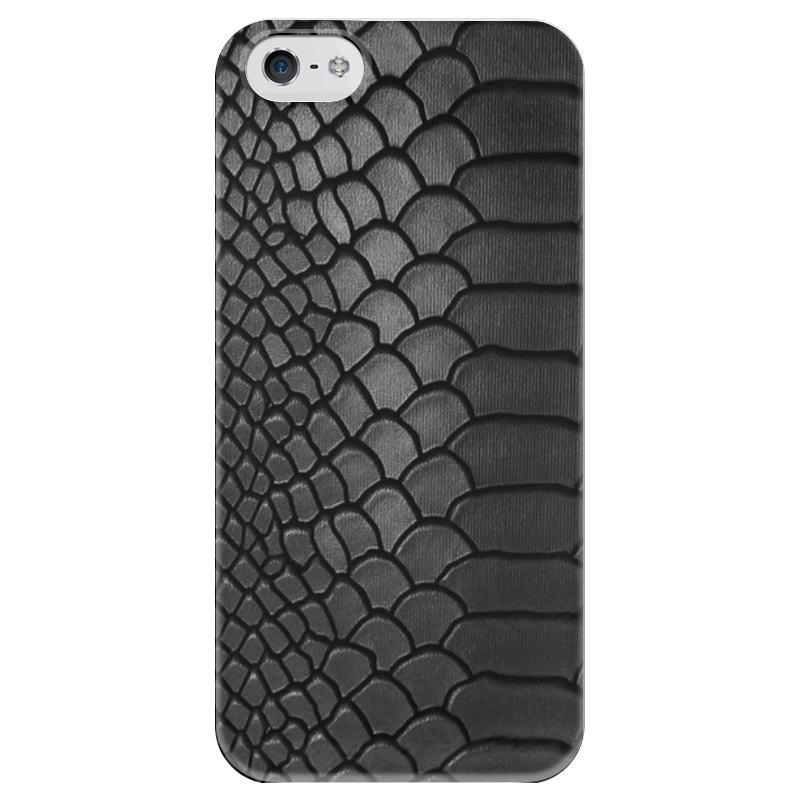 Чехол для iPhone 5 глянцевый, с полной запечаткой Printio Змеиная кожа какой iphone лучше для россии