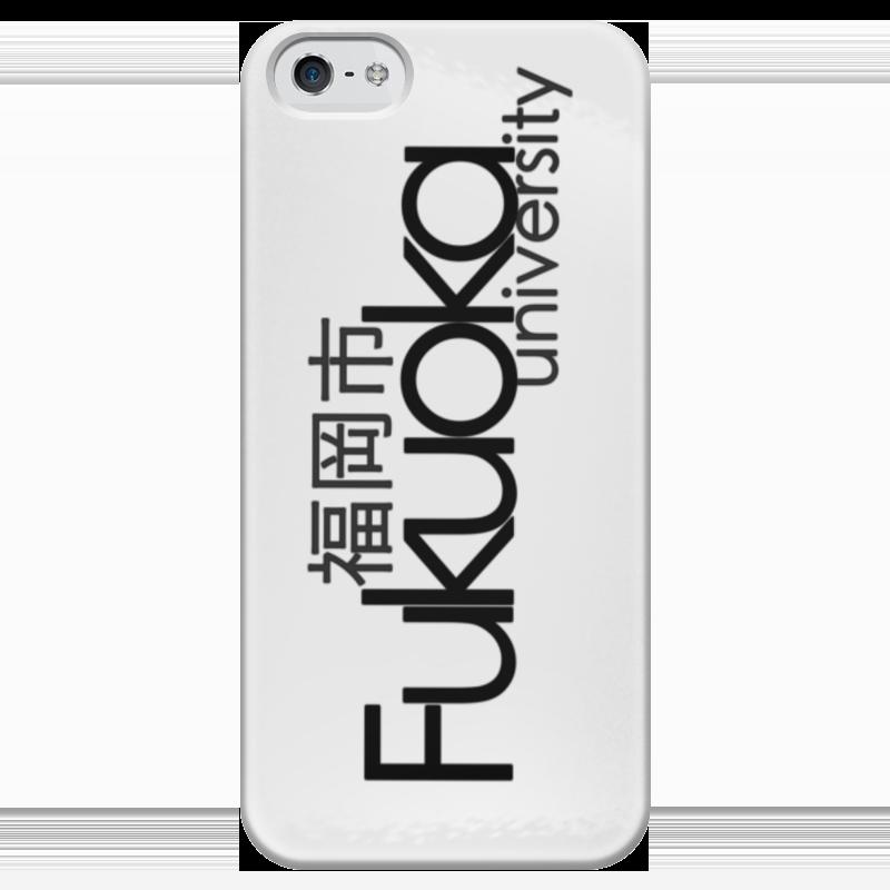 Чехол для iPhone 5 глянцевый, с полной запечаткой Printio Fukuoka university black чехол для iphone 4 глянцевый с полной запечаткой printio эфиопка