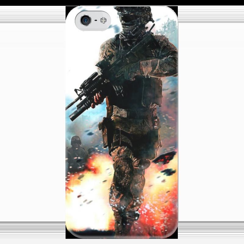 Чехол для iPhone 5 глянцевый, с полной запечаткой Printio Call of duty футболка с полной запечаткой для мальчиков printio кал оф дьюти call of duty игры