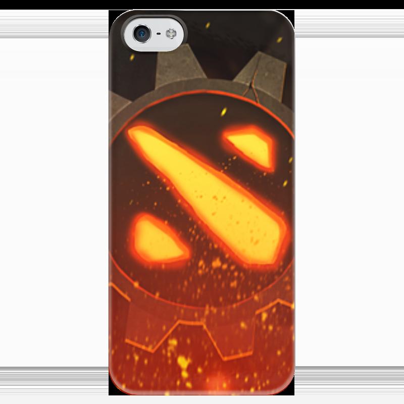 Чехол для iPhone 5 глянцевый, с полной запечаткой Printio Dota 2 - iron dota