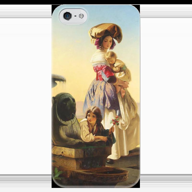 Чехол для iPhone 5 глянцевый, с полной запечаткой Printio Молодая мать чехол для iphone 6 глянцевый printio молодая женщина в соломенной шляпе