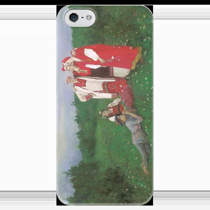 Чехол для iPhone 5 глянцевый, с полной запечаткой Printio Северная идиллия чехол для iphone 5 глянцевый с полной запечаткой printio дама в голубом картина гейнсборо