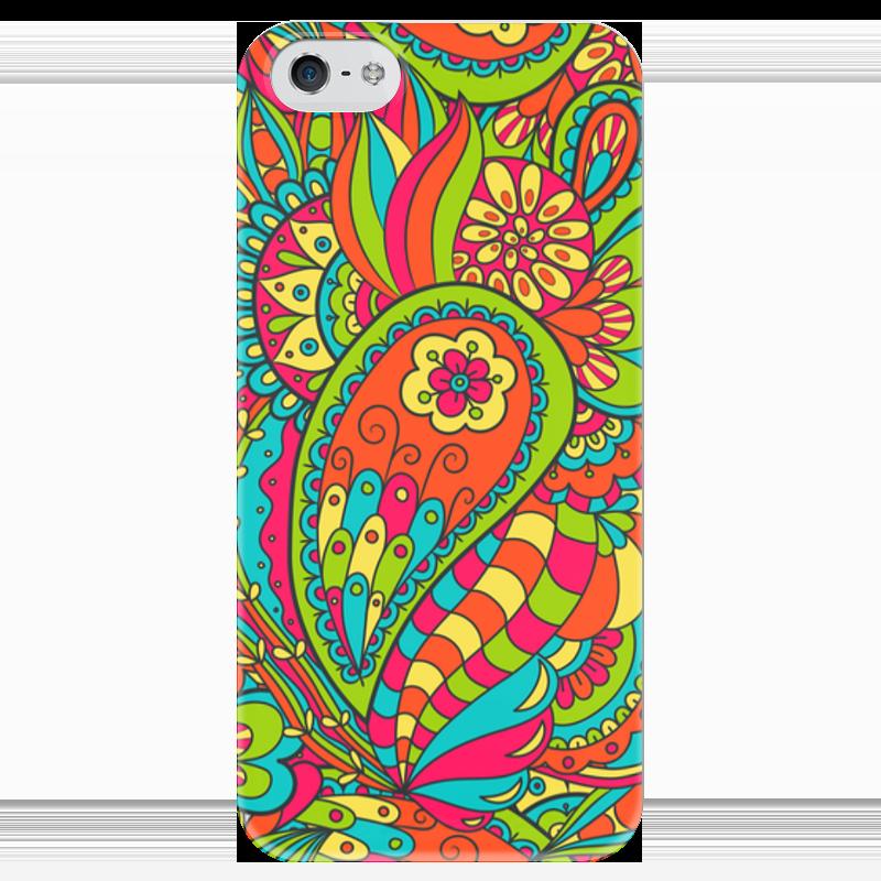 Чехол для iPhone 5 глянцевый, с полной запечаткой Printio Цветочный дудл чехол для iphone 6 глянцевый printio цветочный