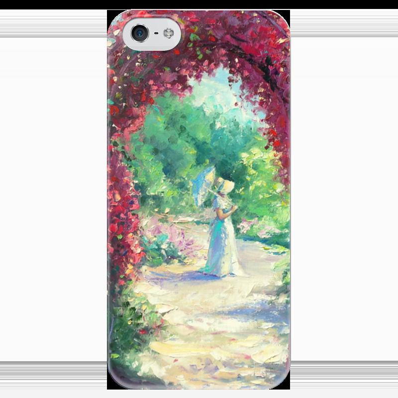 Чехол для iPhone 5 глянцевый, с полной запечаткой Printio В летнем саду! чехол для iphone 5 глянцевый с полной запечаткой printio не трогай мой телефон
