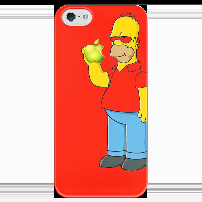 Чехол для iPhone 5 глянцевый, с полной запечаткой Printio Гомер чехол для iphone 5 глянцевый с полной запечаткой printio икс 23 лора кинни