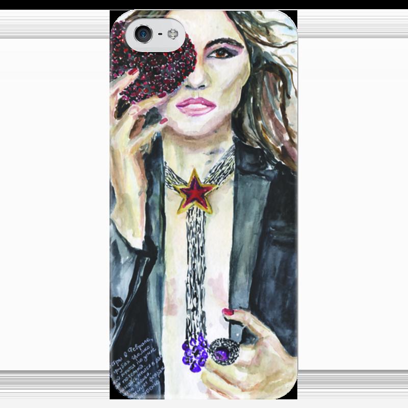 Чехол для iPhone 5 глянцевый, с полной запечаткой Printio Miss february / мисс февраль
