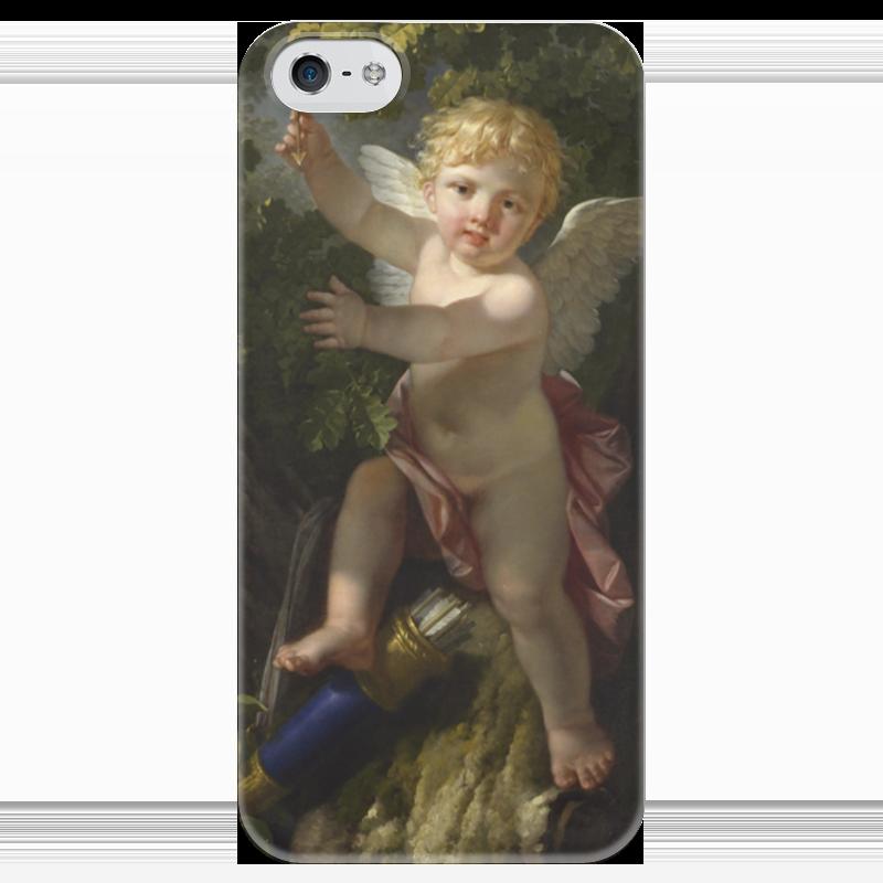 Чехол для iPhone 5 глянцевый, с полной запечаткой Printio Купидон на дереве (ле барбье жан-жак-франсуа) ле трезор дю руа красное