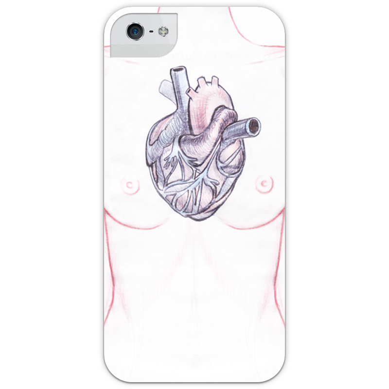 Чехол для iPhone 5 глянцевый, с полной запечаткой Printio Heart чехол для iphone 7 глянцевый printio sweet heart