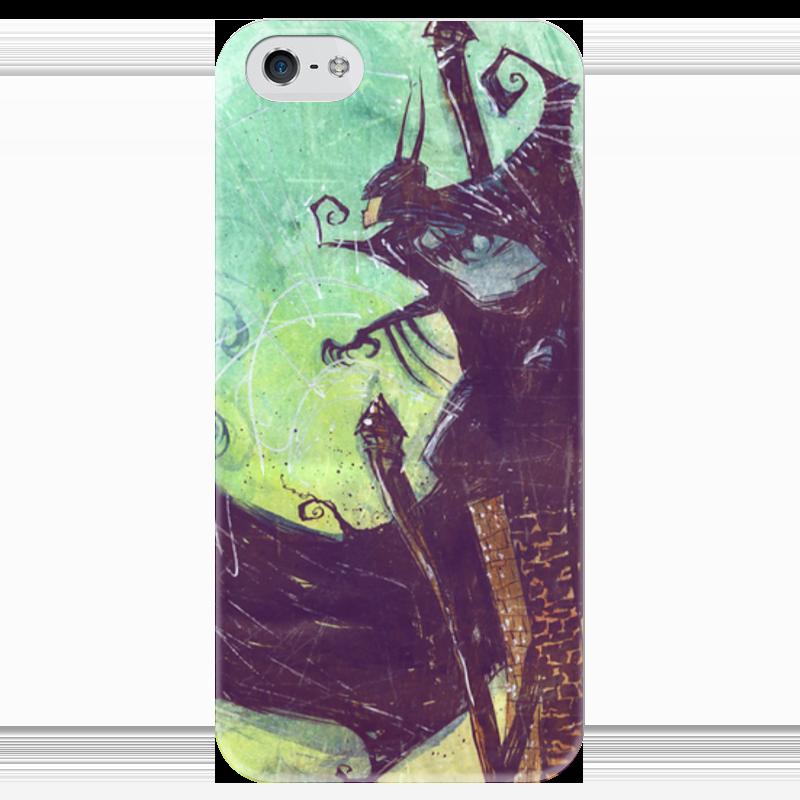 Чехол для iPhone 5 глянцевый, с полной запечаткой Printio Comics art series: batman чехол для iphone 7 глянцевый printio horror art