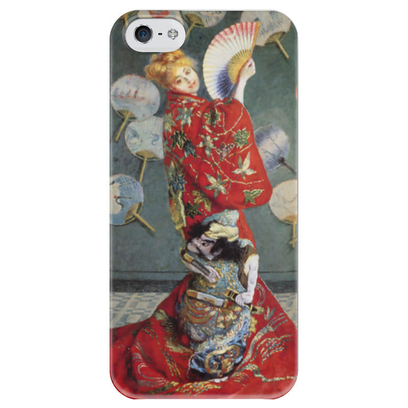 Чехол для iPhone 5 глянцевый, с полной запечаткой Printio Камилла в японском кимоно (оскар клод моне) пазл 73 5 x 48 8 1000 элементов printio сад художника в аржантее клод моне