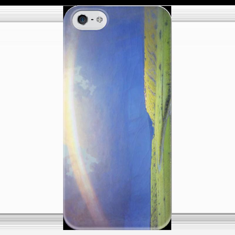 Чехол для iPhone 5 глянцевый, с полной запечаткой Printio Радуга (картина архипа куинджи) чехол для blackberry z10 printio север картина архипа куинджи