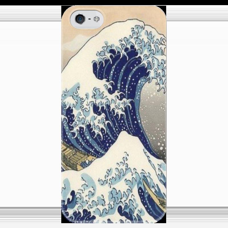 Чехол для iPhone 5 глянцевый, с полной запечаткой Printio Большая волна чехол для iphone 5 глянцевый с полной запечаткой printio осенний день сокольники левитан