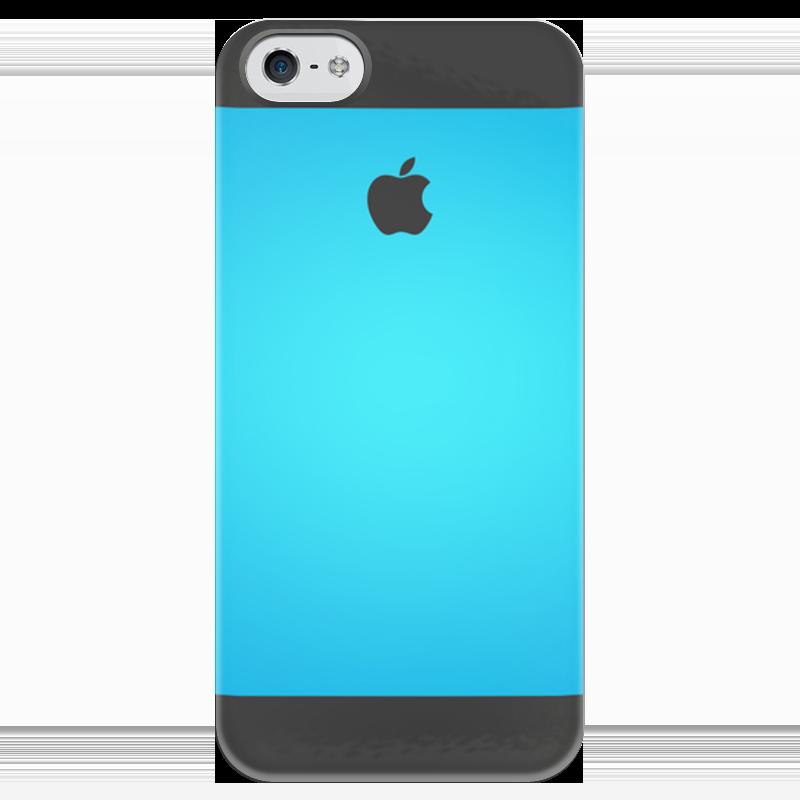 Чехол для iPhone 5 глянцевый, с полной запечаткой Printio Океан