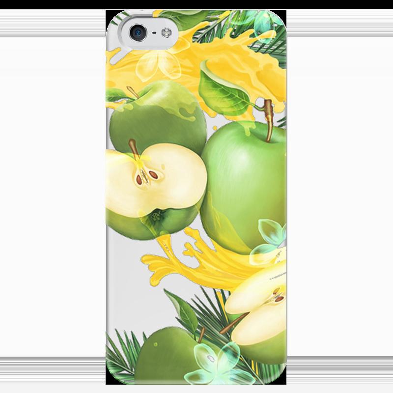 Чехол для iPhone 5 глянцевый, с полной запечаткой Printio Яблоки чехол для iphone 4 глянцевый с полной запечаткой printio эфиопка