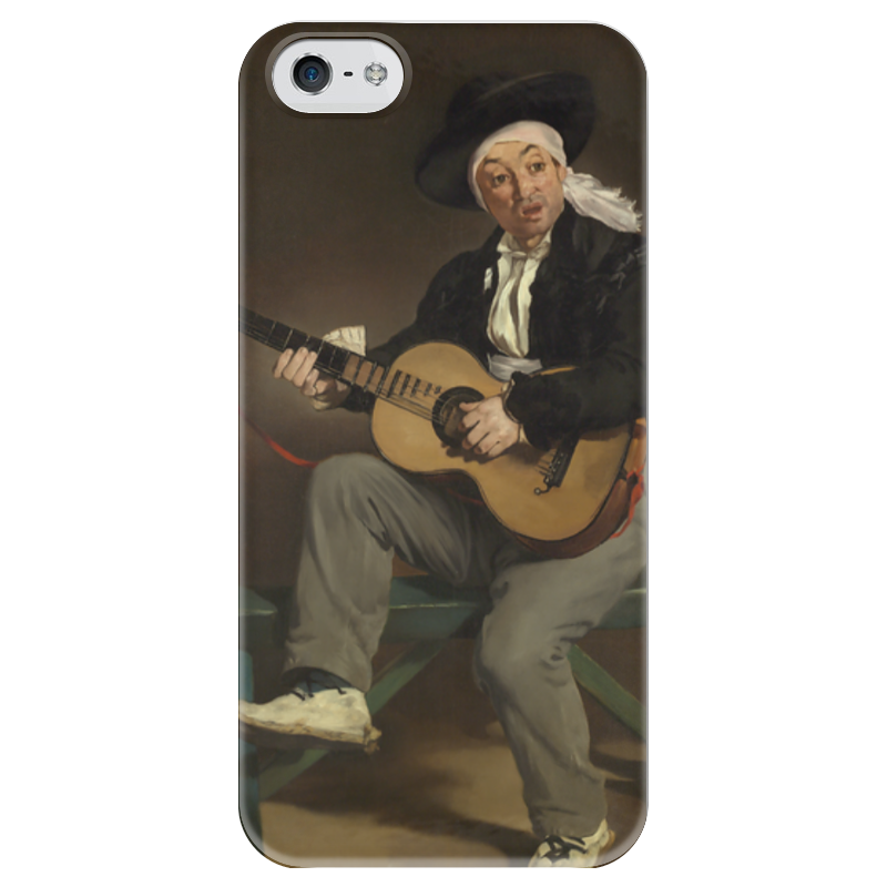 Чехол для iPhone 5 глянцевый, с полной запечаткой Printio Испанский гитарист испанский топор truper le 3m 14978