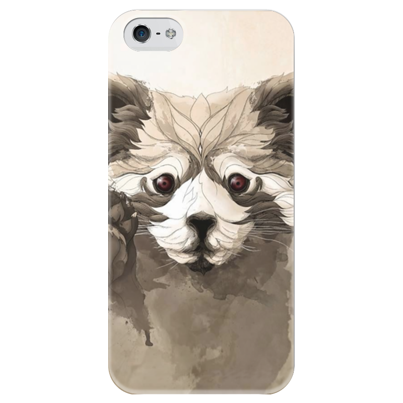 Чехол для iPhone 5 глянцевый, с полной запечаткой Printio Малая панда малая балканская 35 куплю гараж