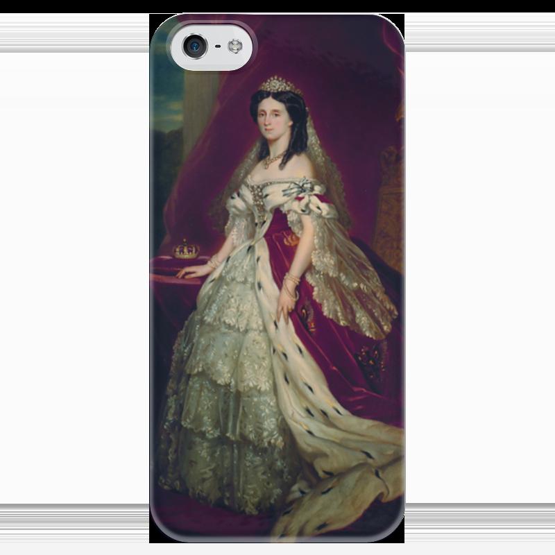 Чехол для iPhone 5 глянцевый, с полной запечаткой Printio Августа (германская императрица) императрица