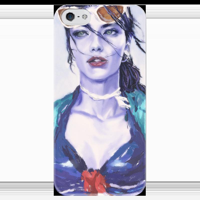 Чехол для iPhone 5 глянцевый, с полной запечаткой Printio Overwatch: widowmaker