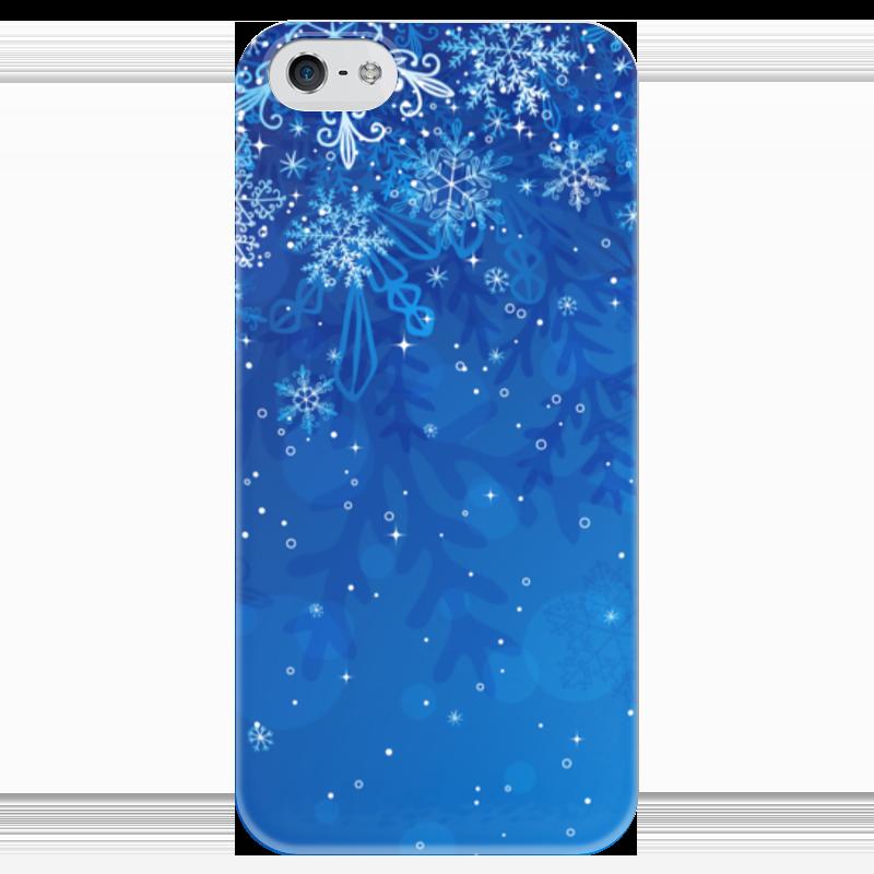 Чехол для iPhone 5 глянцевый, с полной запечаткой Printio Снежинки чехол для iphone 4 глянцевый с полной запечаткой printio эфиопка