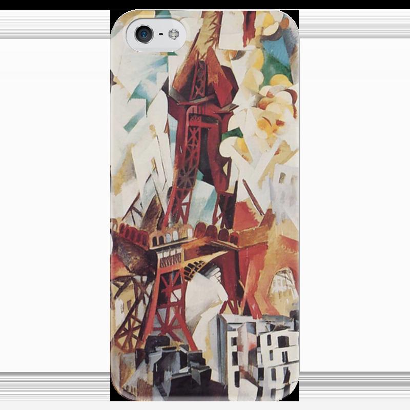 Чехол для iPhone 5 глянцевый, с полной запечаткой Printio Эйфелева башня (робер делоне) футболка с полной запечаткой мужская printio обнажённая с книгой робер делоне