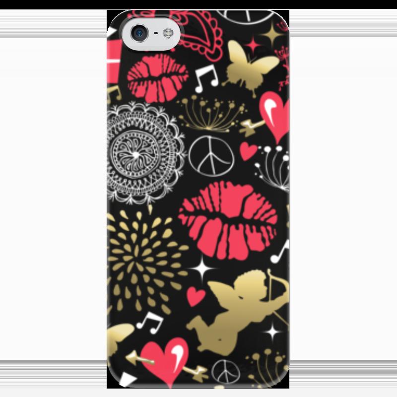Чехол для iPhone 5 глянцевый, с полной запечаткой Printio Валентинка чехол для iphone 5 глянцевый с полной запечаткой printio осенний день сокольники левитан