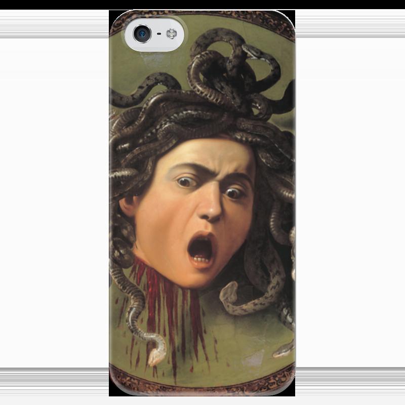 Чехол для iPhone 5 глянцевый, с полной запечаткой Printio Медуза (картина караваджо) караваджо