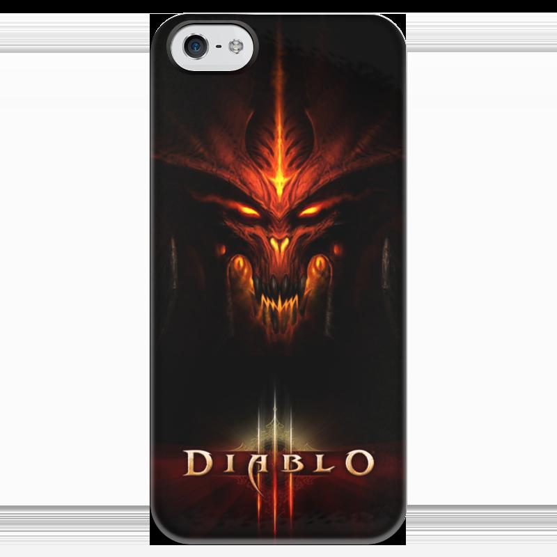 Чехол для iPhone 5 глянцевый, с полной запечаткой Printio Diablo 3 diablo 3 лицензионный диск в минске
