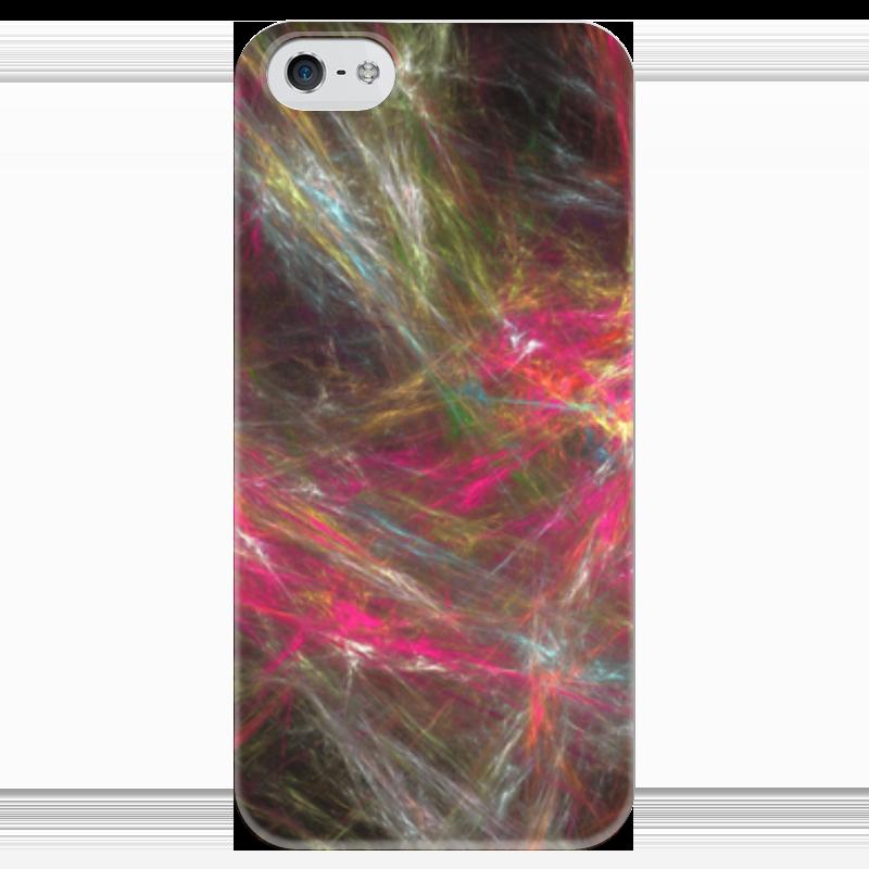 Чехол для iPhone 5 глянцевый, с полной запечаткой Printio Абстрактный дизайн