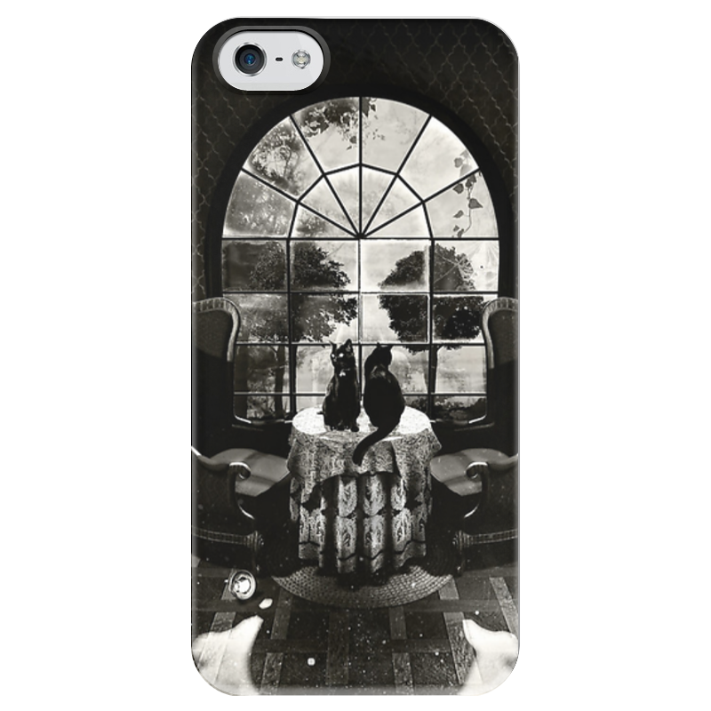 Чехол для iPhone 5 глянцевый, с полной запечаткой Printio Skull house чехол для iphone 5 глянцевый с полной запечаткой printio candy skull
