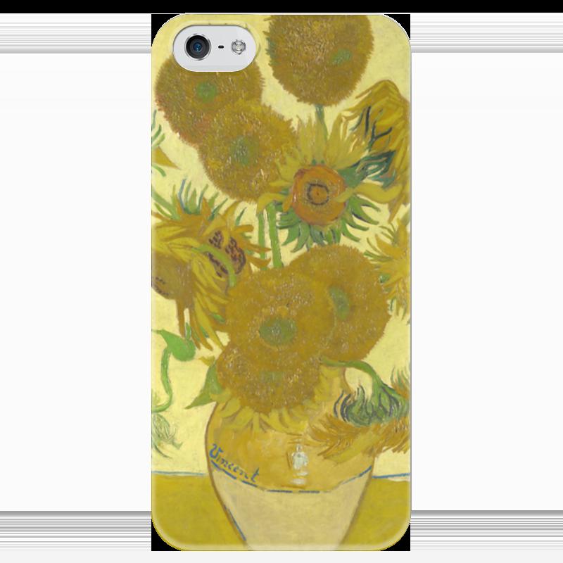 Чехол для iPhone 5 глянцевый, с полной запечаткой Printio Подсолнухи (винсент ван гог) орлова маша винсент ван гог подсолнухи