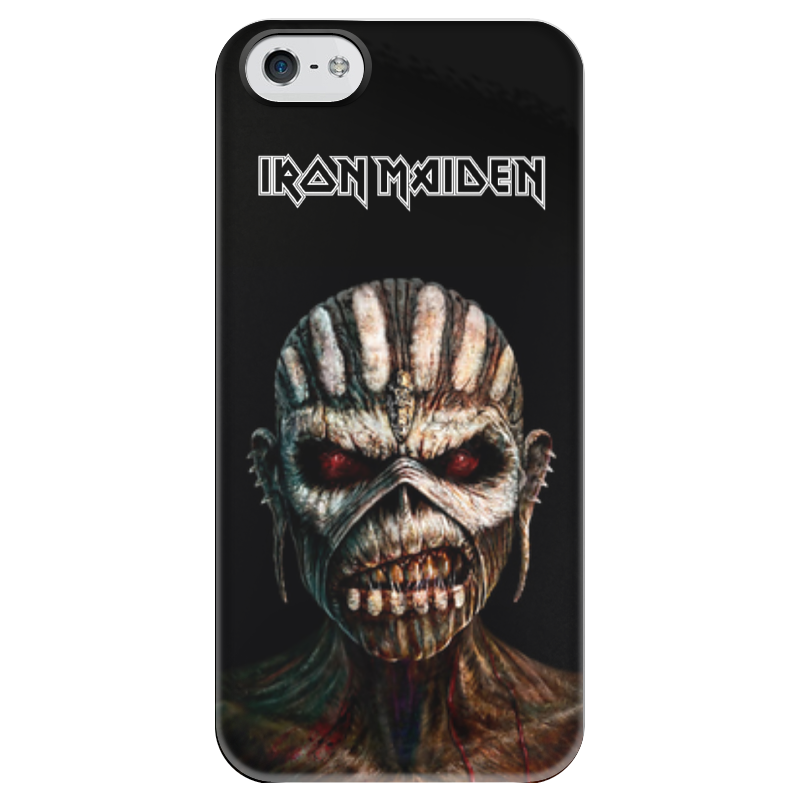 Чехол для iPhone 5 глянцевый, с полной запечаткой Printio Iron maiden book of souls iron maiden the book of souls 3 lp