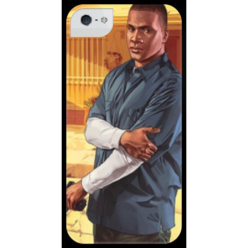 Чехол для iPhone 5 глянцевый, с полной запечаткой Printio Grand theft auto 5 (франклин) футболка классическая printio grand theft auto 5
