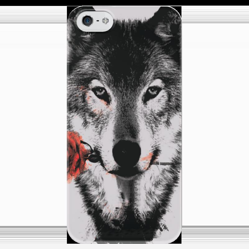 Чехол для iPhone 5 глянцевый, с полной запечаткой Printio Волк. чехол для iphone 4 глянцевый с полной запечаткой printio волк и лис