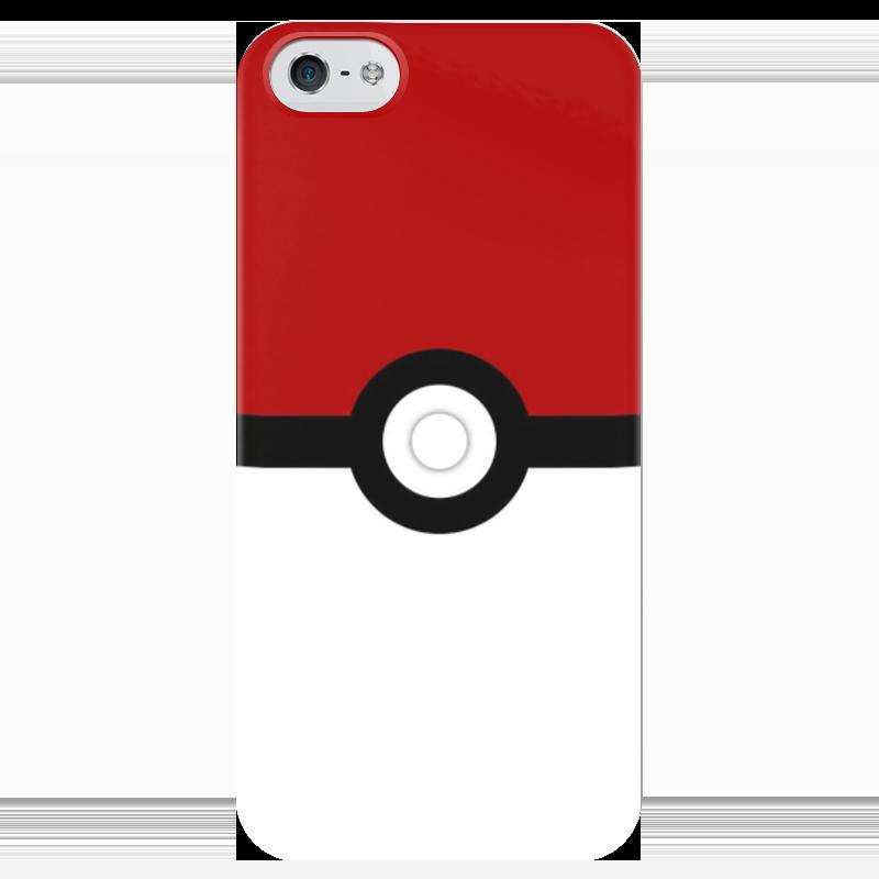 Чехол для iPhone 5 глянцевый, с полной запечаткой Printio Pokeball чехол для iphone 5 глянцевый с полной запечаткой printio цикличность