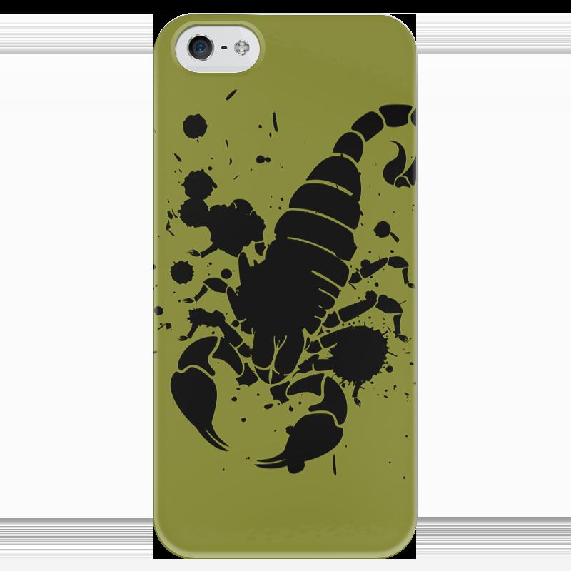 Чехол для iPhone 5 глянцевый, с полной запечаткой Printio Скорпион (24.10-21.11) чехол для iphone 5 глянцевый с полной запечаткой printio осенний день сокольники левитан