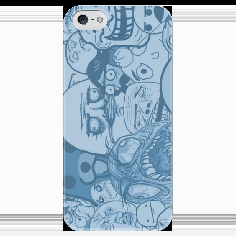 Чехол для iPhone 5 глянцевый, с полной запечаткой Printio Тролл защитная пленка luxcase для samsung galaxy s4 mini