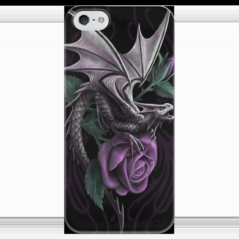 Чехол для iPhone 5 глянцевый, с полной запечаткой Printio Dragon flower чехол для iphone 5 глянцевый с полной запечаткой printio dota 2 dragon knight