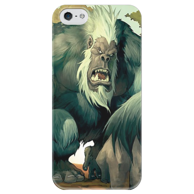 Чехол для iPhone 5 глянцевый, с полной запечаткой Printio Король мукла чехол для iphone 5 глянцевый с полной запечаткой printio король лич